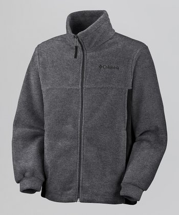 Charcoal Heather Steens Mountain Fleece Jacket - Boys