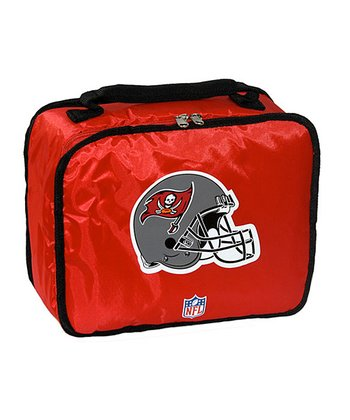 Red Tampa Bay Buccaneers Lunch Break Lunch Box