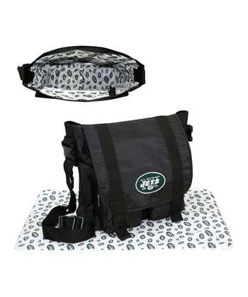 Black New York Jets Messenger Bag & Blanket