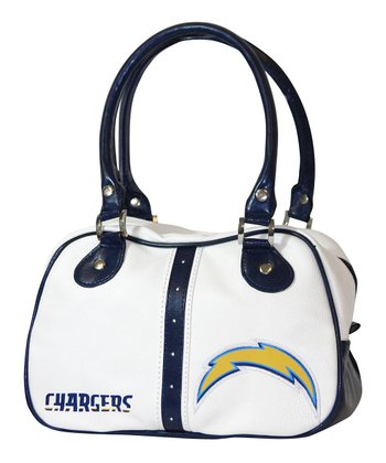 White San Diego Chargers Ethel Purse