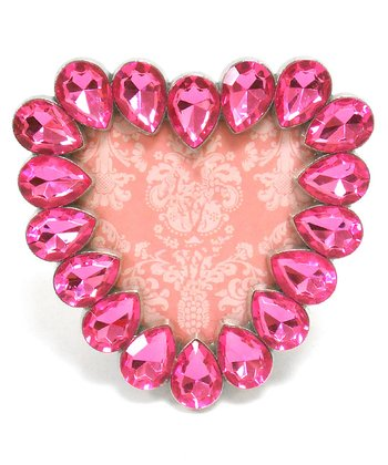 Concepts Pink Crystals Heart Picture Frame