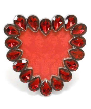 Concepts Red Crystals Heart Picture Frame