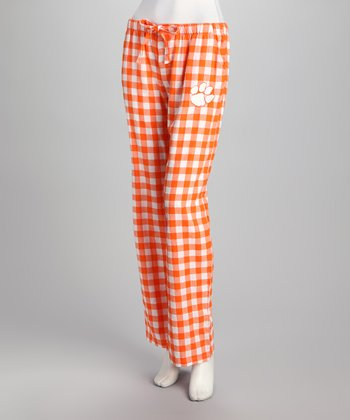 Concepts Sports Clemson Flannel Pants - Women