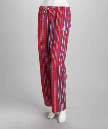 Crimson & White Alabama Plaid Pants - Women