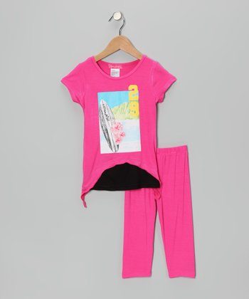 Pink Surf Tunic & Leggings - Infant, Toddler & Girls