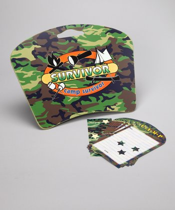 Camo Camp Survivor Lap Desk & Stationery Set