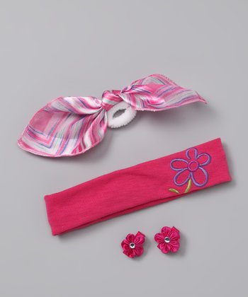 Pink & Blue Hair Tie Set