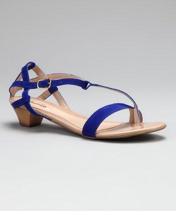 Contramao Blue T-Strap Sandal