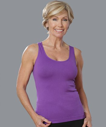 Royal Purple Seamless Racerback Tank - Women