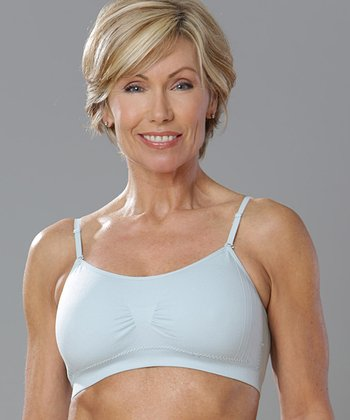 Baby Blue Seamless Wireless Bra - Women