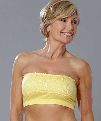 Lemon Lace Seamless Bandeau - Women
