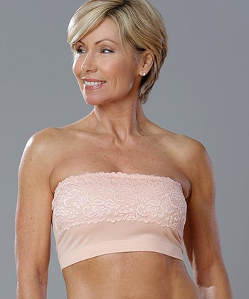 Peach Lace Seamless Bandeau - Women