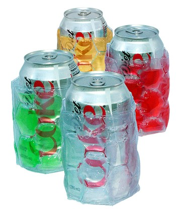 Colored Insulated Can Koozie Set