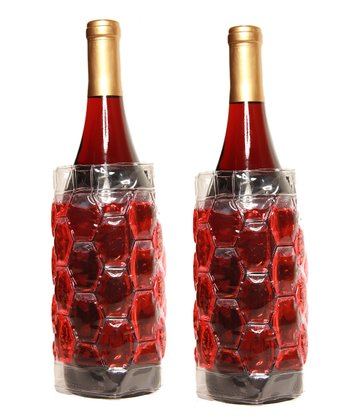 Red Insulated Beverage Bottle Wrap - Set of Two