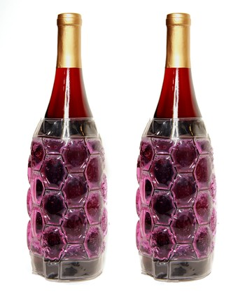 Purple Insulated Beverage Bottle Wrap - Set of Two