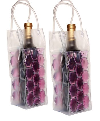 Purple Double-Sided Insulated Beverage Bag - Set of Two