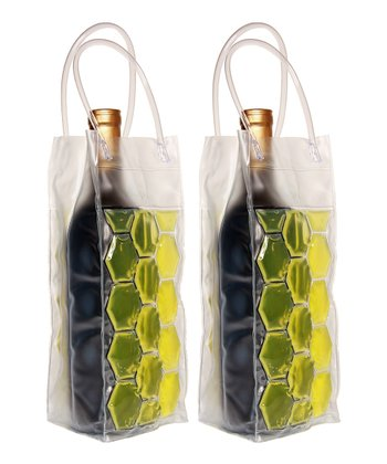 Lime Double-Sided Insulated Beverage Bag - Set of Two