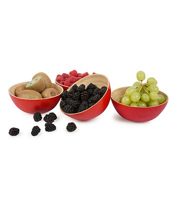 Cherry Modern 6'' Round Bowl - Set of Four