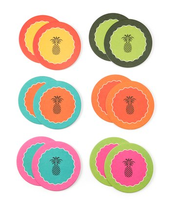 Cork Pops Pineapple Coasters Set