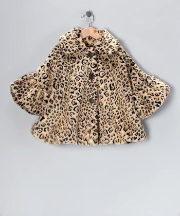 Leopard Faux Fur Sweet Pea Coat - Toddler & Girls