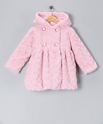 Pink Twist Faux Fur Mary-Jayne Coat - Infant, Toddler & Girls
