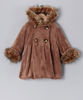 Coco Faux Fur Mary-Jayne Bubble Coat - Infant, Toddler & Girls
