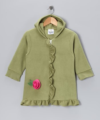 Olive Rosette Coat - Infant, Toddler & Girls