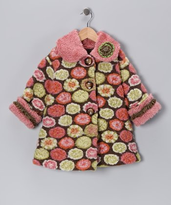 Pink Vintage Sweet Pea Coat - Toddler & Girls