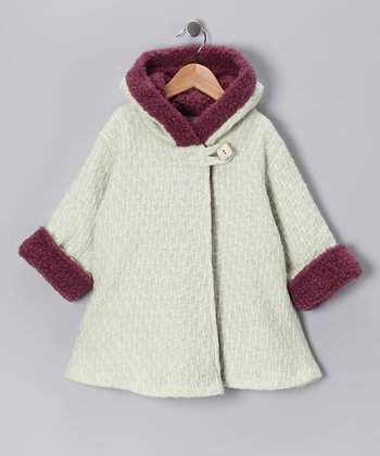 Kiwi Tweed Wrap Swing Coat - Toddler & Girls