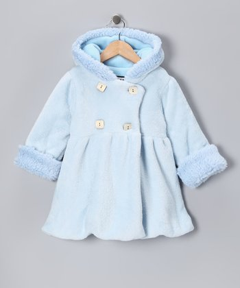 Baby Blue Plush Mary-Jayne Bubble Coat - Toddler
