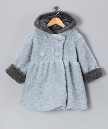 Light Blue Lambie Mary-Jayne Bubble Coat - Toddler & Girls