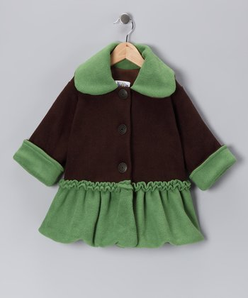Brown Sweet Pea Bubble Coat - Infant, Toddler & Girls