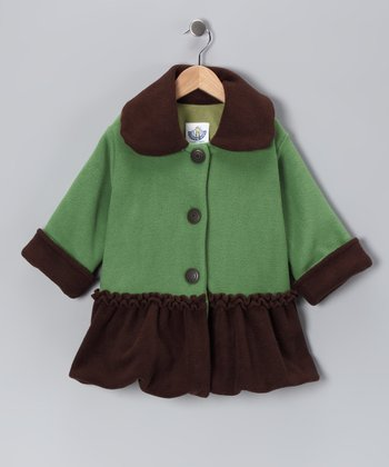 Green Sweet Pea Bubble Coat - Infant, Toddler & Girls