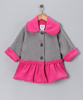 Gray Split Sweet Pea Bubble Coat - Infant, Toddler & Girls