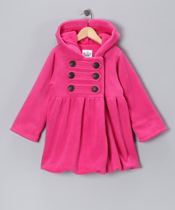 Pink Military Mary-Jayne Bubble Coat - Infant, Toddler & Girls