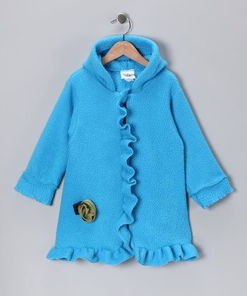 Turquoise Rosette Coat - Infant, Toddler & Girls