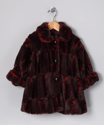 Red & Black Sweet Pea Coat - Infant, Toddler & Girls
