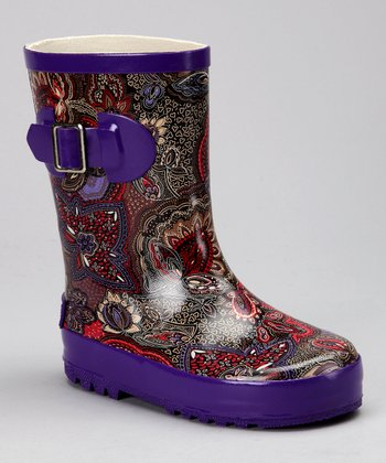 Corky's Footwear Purple Passion Baby Doll Rain Boot