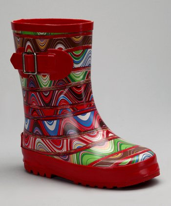 Corky's Footwear Rainbow Baby Doll Rain Boot