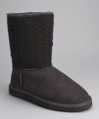 Corky's Footwear Gray Crocheted Boot