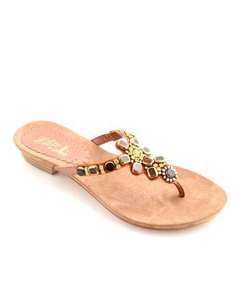 Bronze Caprina Leather Sandal