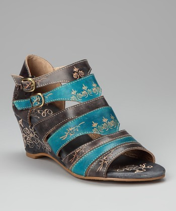 Metallic Redonda Leather Sandal