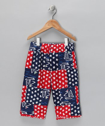 America's Cup Patchwork Frill Capri Pants - Toddler & Girls