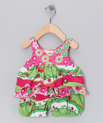 Green Garden Princess Bubble Romper - Infant
