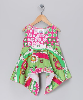 Green Garden Frolic Handkerchief Tunic - Infant & Girls