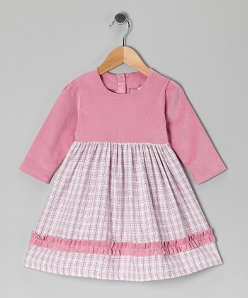 Pink Gingham Dress - Girls