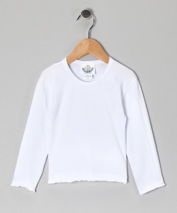 White Long-Sleeve Tee - Infant & Girls