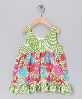 Green Zoology Babydoll Dress - Infant, Toddler & Girls