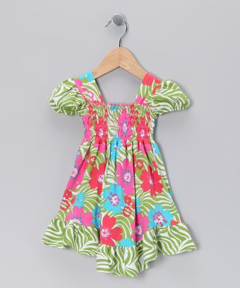 Green Zoology Smocked Dress - Infant, Toddler & Girls