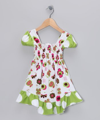 Green Summertime Smocked Dress - Girls